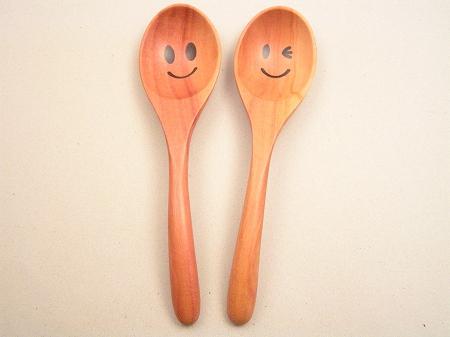 画像1: ニコニコ&ウインク スープスプーン